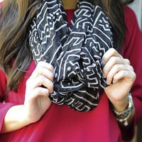 To Infinity And Beyond Scarf: Black/Ivory | Hope's