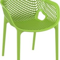 Air XL Outdoor Dining Arm Chair Tropical Green (Set of 2)