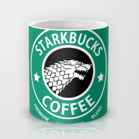 Game of Thrones Starkbucks Coffee Mug by JayEbz | Society6