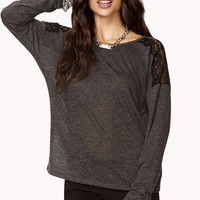 Relaxed Lace Panel Top