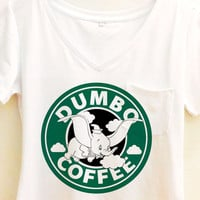 Dumbo Coffee Shirt | Disney Pocket Tee
