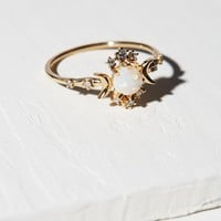 Free People 14K Wandering Star Diamond Opal Ring