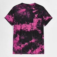 Fashion Men Patch Pocket Tie Dye Casual Top