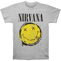 Nirvana Men's  Smiley Splat T-shirt Grey