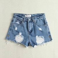 Women's Summer Denim Shorts [7279001223]
