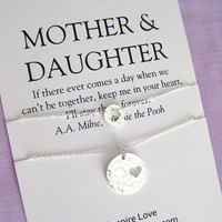 Mother Daughter Set. Mom. MOTHER Daughter Necklace. Mother of Bride Gift. 60th Birthday Gift. Mom Daughter Jewelry.  Mom Jewelry.