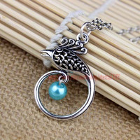 Handmade silver phoenix necklace, necklace, with high quality best gift send to their girlfriends