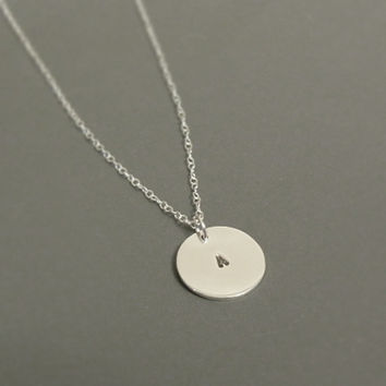 I will not forget you - Personalized sterling silver initial necklace