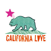 Billabong Cali Love Bear Sticker Turquoise One Size For Women 19809024101