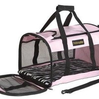 Petmate Plush Soft Sided Pet Kennel Cab & Carrier Color: Pink