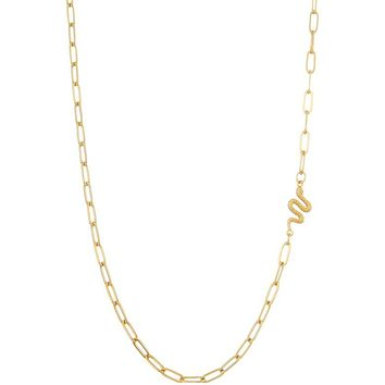 Snake Charm Chain Necklace