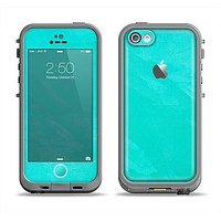 The Subtle Neon Turquoise Surface Apple iPhone 5c LifeProof Fre Case Skin Set