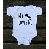 My Aunt Loves Me Baby Onesuit Funny Girl Boy Clothing