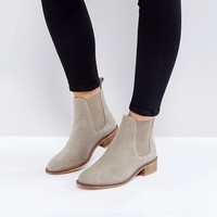 ASOS ABSOLUTE Wide Fit Suede Chelsea Ankle Boots at asos.com