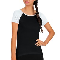 Womens Active Comfortable Short Sleeve Scoop Neck Rayon Workout Tee Shirt