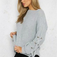 Cassidy Lace Up Sweater