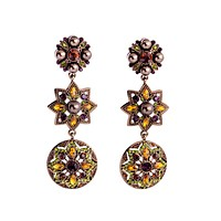 Fall Shades Statement Clip-On Earrings