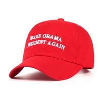 2017 new Make Obama President Again Dad Hat men women Cotton Baseball Cap Unstructured New - Red