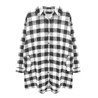 CHECK LONG SHIRT