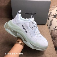 GRAY WHITE BOLD BALENCIAGA COLLECTIBLE SNEAKERS SHOES FOR WOMEN MEN GIFT