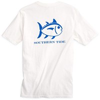 Weathered Skipjack Tee Shirt in Classic White by Southern Tide