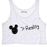 Fairytale > Reality Crop Tank Top