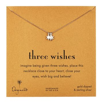 Two-Tone Three Wishes Star Necklace