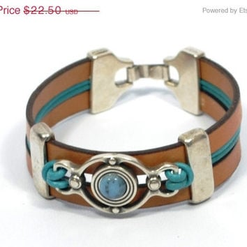 Mothers Day Sale cool turquoise stone bracelet * turquoise bracelet * women leather bracelet * gifts for women * turquoise jewelry * gifts f