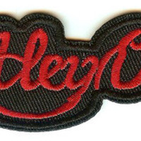 Motley Crue Iron-On Patch Red Letters Logo