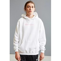 Champion Joint sugarcoat cannonball long sleeve multi-label printed hoodie White