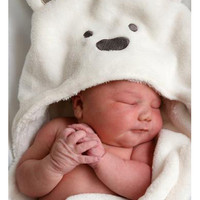 Animal Shape Hooded Bathrobe Baby Bath Towel  Or Baby Blanket