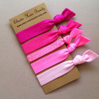 The Melody Hair Tie - Ponytail Holder Collection by Elastic Hair Bandz on Etsy