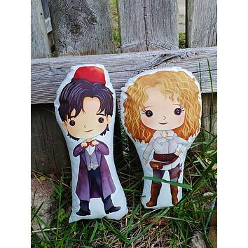 11 or River. Doctor Who, River Song Pillow Pals.