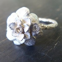 Sedum Rosette Ring by ManiDesigns on Etsy