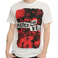 Pierce The Veil Red Collage T-Shirt
