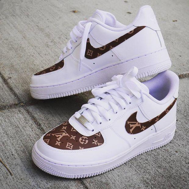 Image of Inseva LV Louis Vuitton x Nike Air Force 1 men and women 2018 latest fashion running sports shoes F