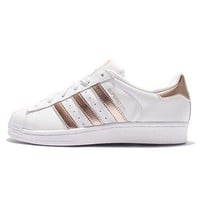 adidas Women's Superstar W, FOOTWEAR WHITE/ROSE GOLD