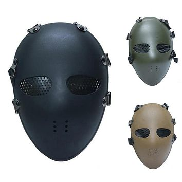 Airsoft Paintball BB Gun Full Face Protect Mask Classic Style Tactical Head Masks For CS Wargame Dummy Cosplay Protection