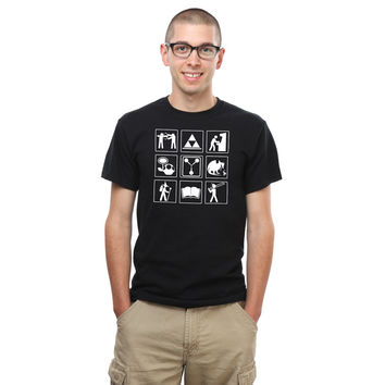 Geeks and Recreation T-Shirt - Black,