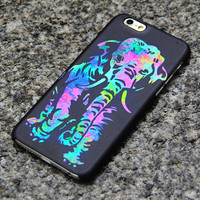 Elephant iPhone 6 iPhone 6 plus iPhone 5S 5iPhone 4S/4 Case, Samsung Galaxy S6 edge S6 S5 S4 Note 3 Case Turquoise and Purple- 011