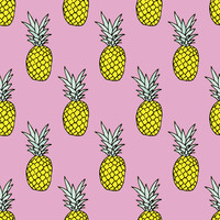 Pineapple Party Removable Wallpaper Decal