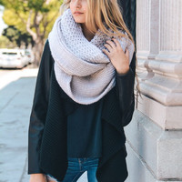 Extra Large Chunky Knit Infinity Scarf - Ivory