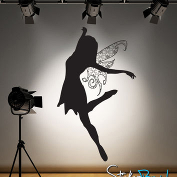 Vinyl Wall Decal Sticker Fairy Princess with Wings #AC127