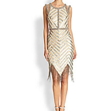 Haute Hippie - Beaded Fringe-Trim Dress - Saks Fifth Avenue Mobile