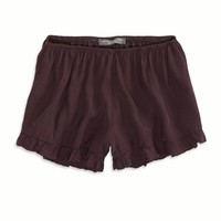 Ruffled Short Made In Italy By AEO, Raisin Wine | American Eagle Outfitters