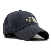 Gray The North Face Embroidered Baseball Cap Hat