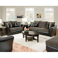 Chelsea Home Union 2 Piece Living Room Set in Pinnacle - Gray - Miraculous Charcoal