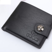 Gucci cross section Leather Fashion Wallet [305722097693]
