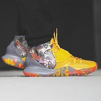 Nike Kyrie 6 Irving 6th generation basketball shoes Yellow Print