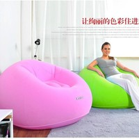 outdoor talk sitting tatami sofa velvet green and pink inflatable sofa cushion, bean bag chair